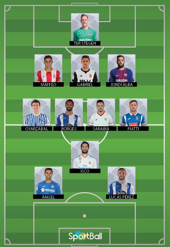 11 ideal La Liga jornada 10