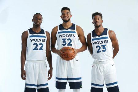 El Big Three de los Timberwolves 2017 18.