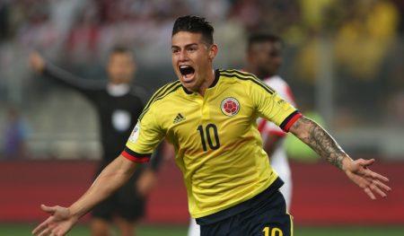 Clasificados al Mundial. Colombia 1-1 Perú. James Rodríguez. Caracol.com.co