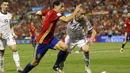 Álvaro Odriozola debutó en la selección con un partidazo.