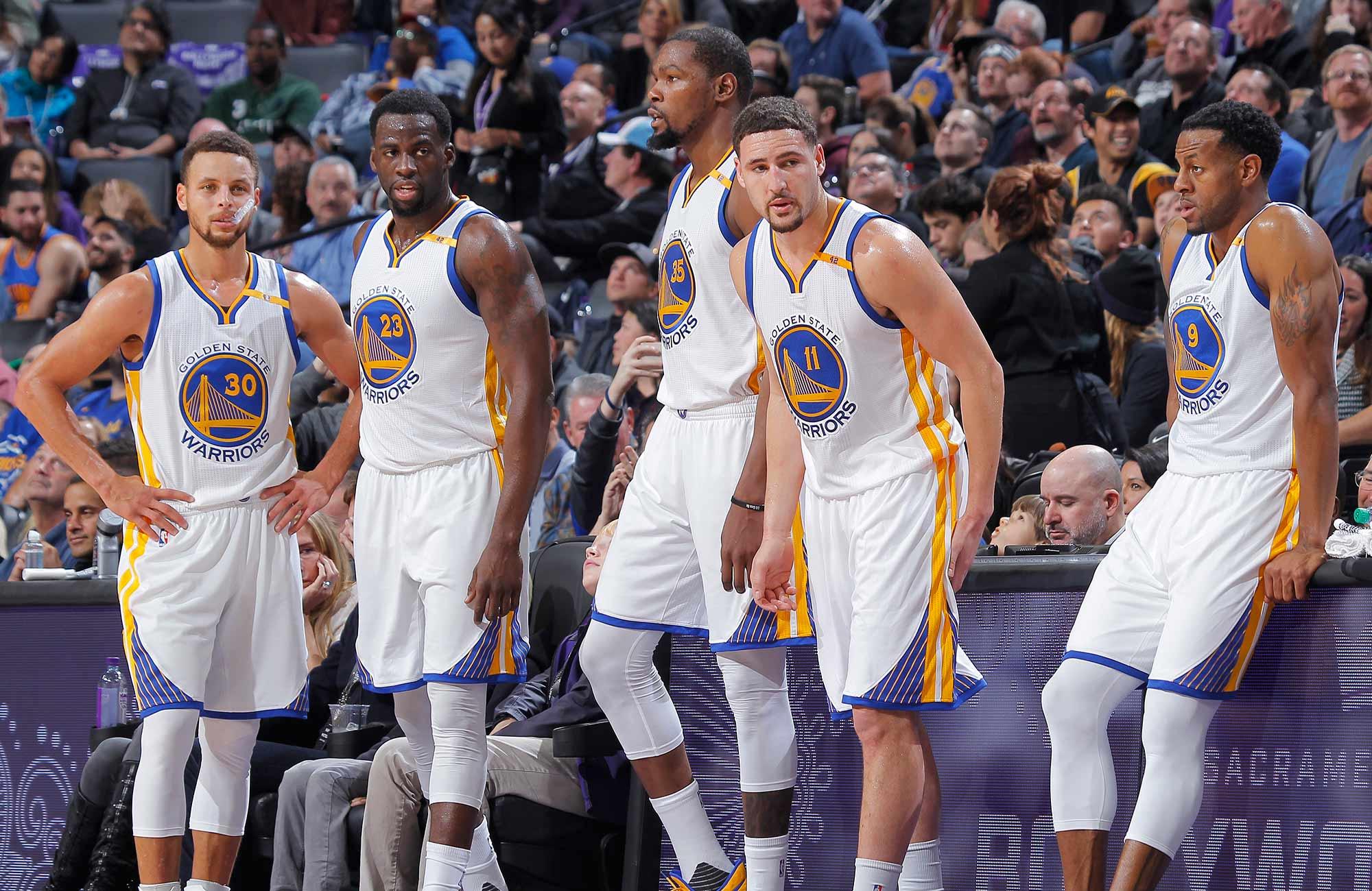 Golden State Warriors 2018-18. Posible quinteto titular de Golden State.
