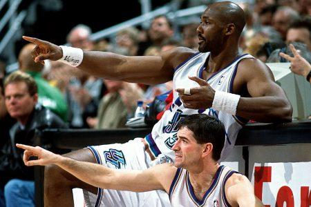 Karl Malone y Stockton, los baluartes de Utah Jazz.