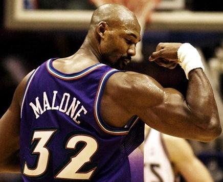 Karl Malone en Utah, y una de sus características: la fuerza muscular.
