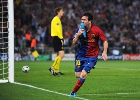 Messi se consagra en la final de Roma 2009.