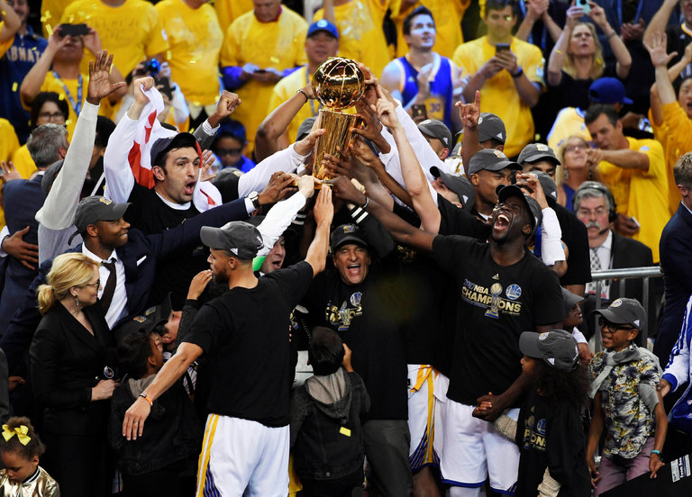 Golden State Warriors 2017 18. Celebración del anillo del año pasado de los Golden State Warriors.