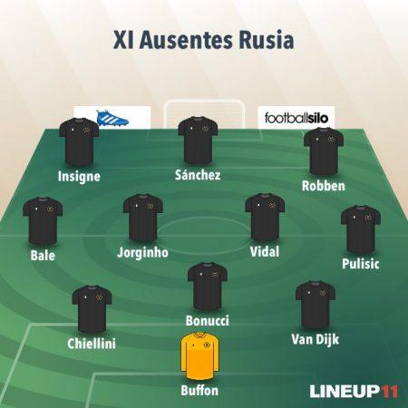 11 de jugadores ausentes en el Mundial de Rusia 2018