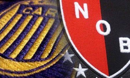 Los escudos de canallas y leprosos, los dos equipos de Rosario.