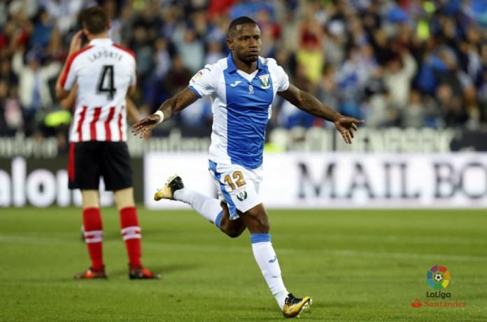 Beauvue celebrando el gol de la victoria ante el Athletic de Bilbao.