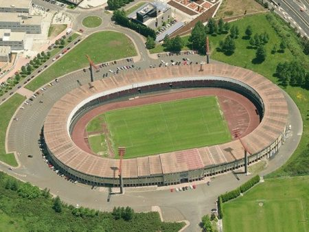 El Estadio de San Lázaro, casa de la SD Compostela.