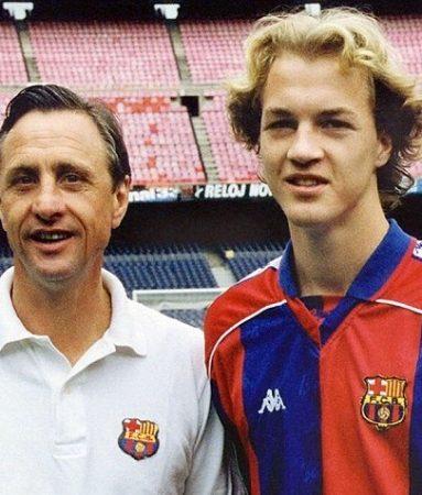 TOP 10 jugadores infravalorados. Johan Cruyff junto a su hijo Jordi.