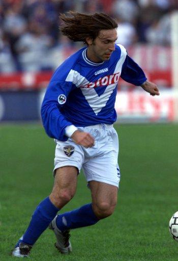 Andrea Pirlo durante su paso por el Brescia.