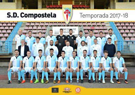 Foto oficial de la plantilla del SD Compostela de la temproada 2017-2018