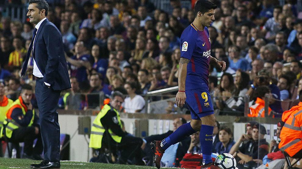 Luis Suárez y Ernesto Valverde ¿Choque de ideas? Marca.com