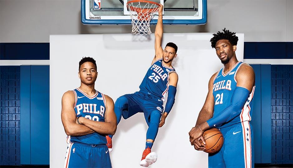 Tres de los mejores novatos de la NBA, juntos en Philadelphia.