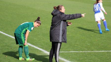La entrenadora sevillana buscará meter a su equipo en la Copa de la Reina.