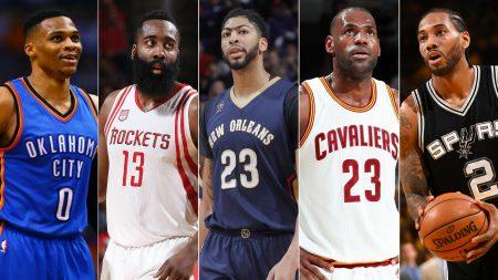 Mejores jugadores de la NBA en 2017.