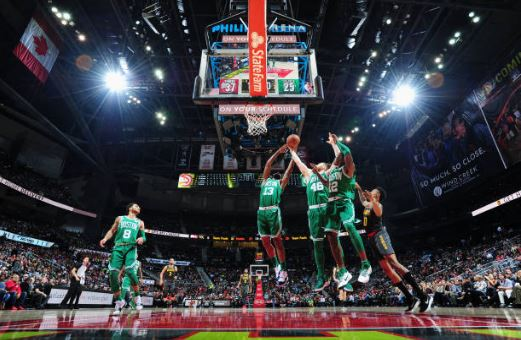 Los rebotes logrados, otra diferencia Boston Celtics y ATlanta Hawks.