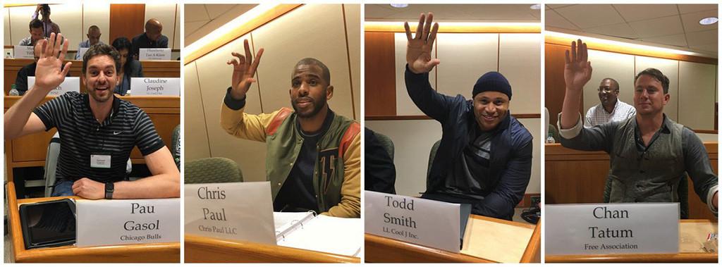 Estrellas de la NBA en curso empresarial y de negocios de la Universidad de Harvard.