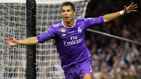 El quinto Balón de Oro de Cristiano. Ronaldo festeja su segundo gol a la Juve en la final de Champions 2017.
