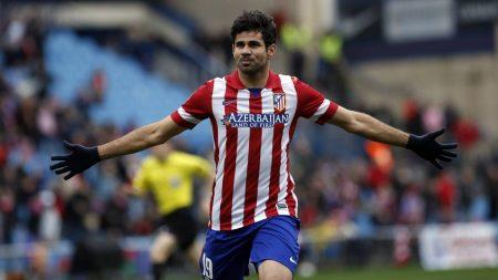 Diego Costa en su útlima temporada con el Atlético de Madrid