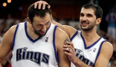 La conexión serbia de Sacramento Kings: Peja Stojakovic y Vlade Divac.