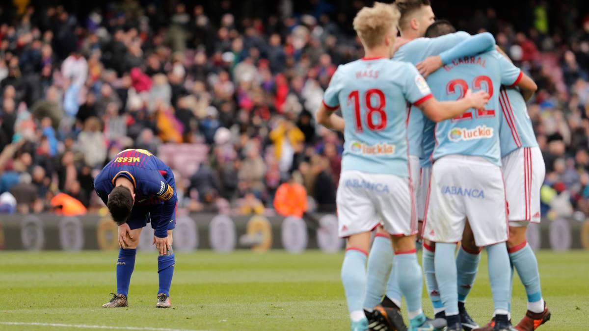 El Celta logró empatar en el Camp Nou. As.com