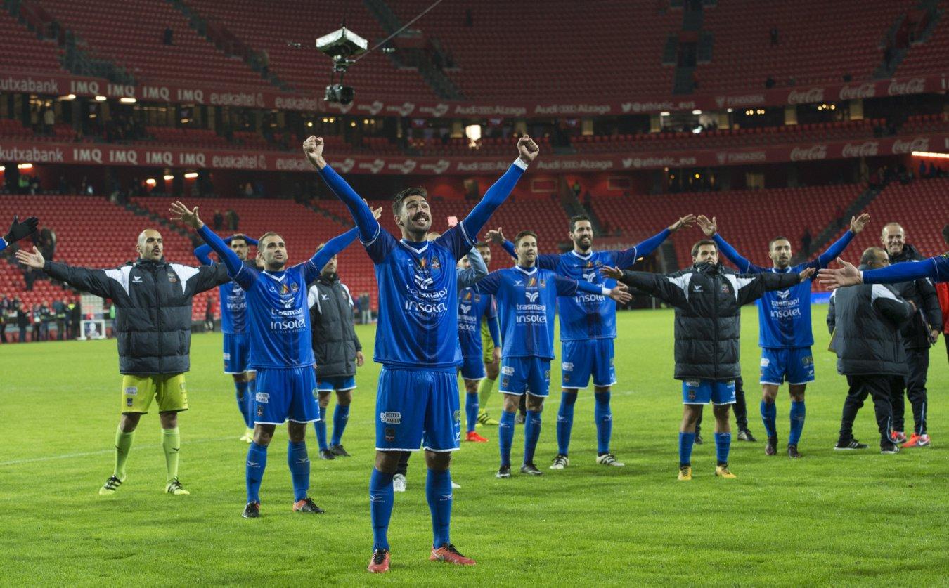 Los jugadores del Formentera esperan repetir la gesta de San Mamés en los octavos de final Copa del Rey.