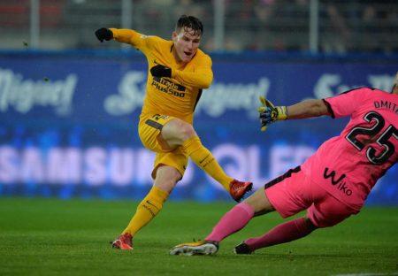 Gameiro anotó el gol de la victoria contra el Eibar.