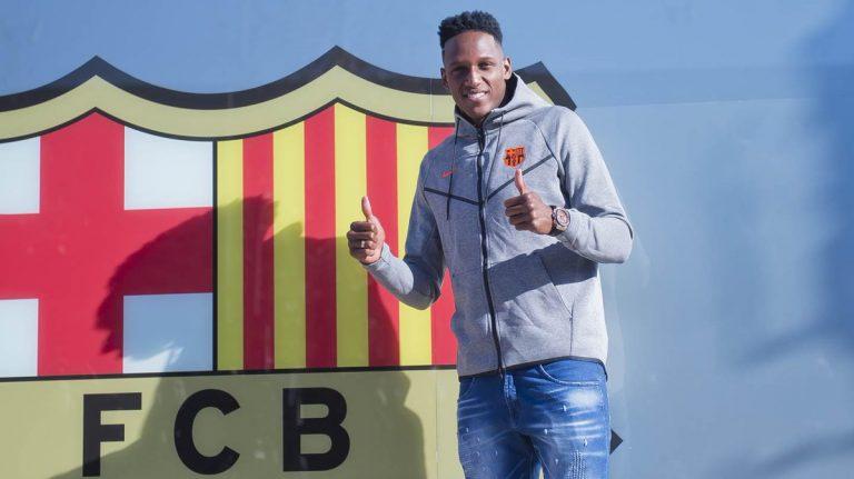 Así juega Yerry Mina, nuevo jugador del FC Barcelona. Twitter.com
