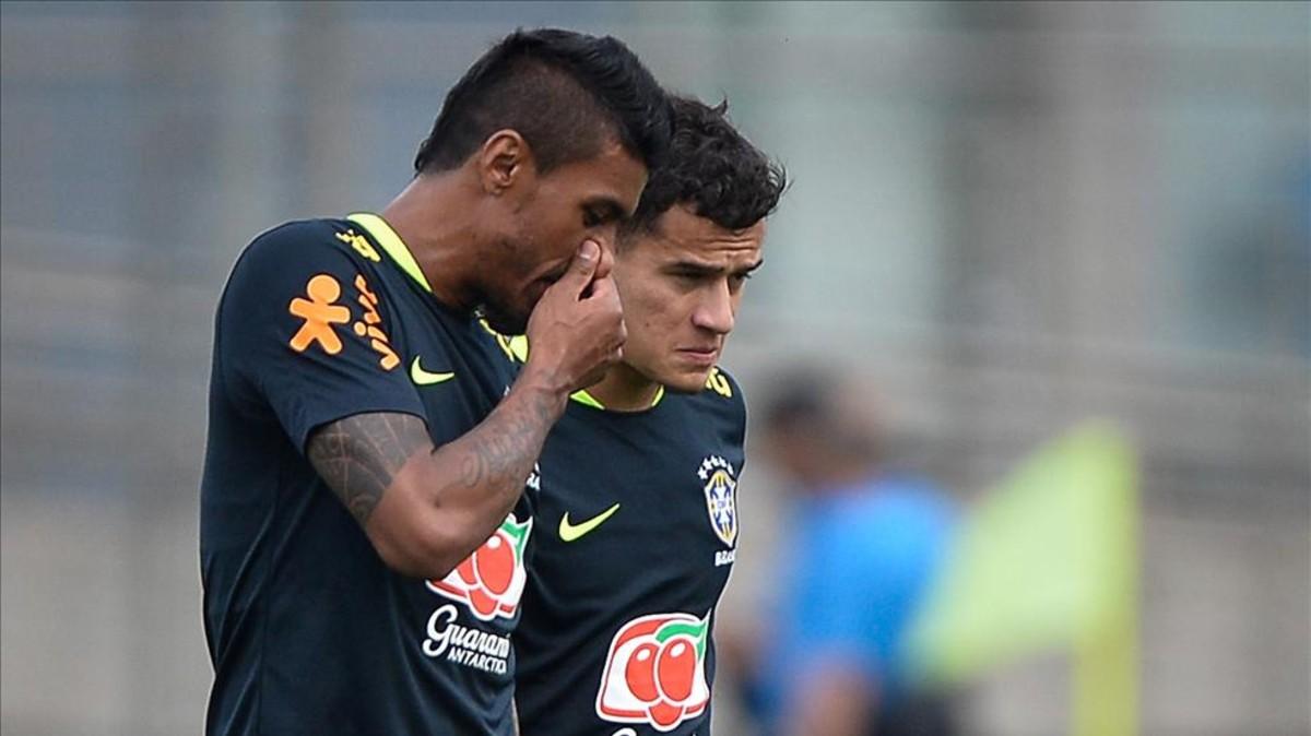 Paulinho y Coutinho Futuros compañeros en el Barça. Tribuna.com