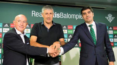 Quique Setién llegó al Real Betis con las esperanzas de devolver al conjunto bético a lo más alto posible de la tabla.