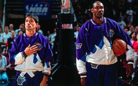 John Stockton y Karl Malone en el All-Star de 1997