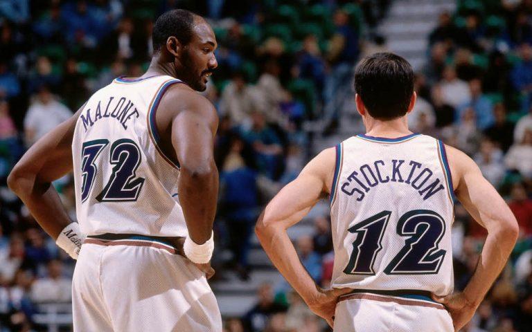 Karl Malone y John Stockton con Utah Jazz
