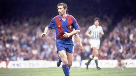 Quini durante su paso por el F.C Barcelona.