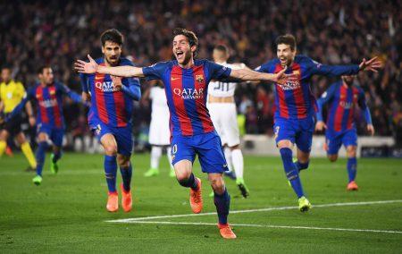 Sergi Roberto culminó la insólita remontada del Barça ante el PSG.