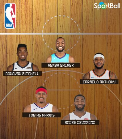 Así sería el equipo de los New York Knicks si clasificamos a los jugadores NBA por estados.