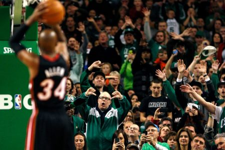 Ray Allen en un Miami Heat vs Boston Celtics