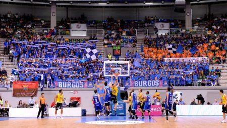 Imagen del Coliseum Burgos, donde la mejor afición ACB anima al San Pablo Burgos.