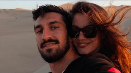 Astori deja a su novia Francesca Fioretti con su hija de 2 años.