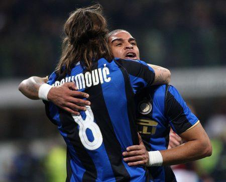 Adriano y Zlatan Ibrahimovic fueron compañeros en el Inter de Mancini.