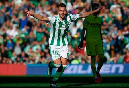 Loren Morón se estrenaba como goleador verdiblanco en su debut en el Villamarin.