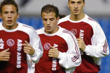 Zlatan Ibrahimovic y Van der Vaart, compañeros en Ajax.