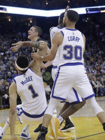 Momento de la última lesión de Curry
