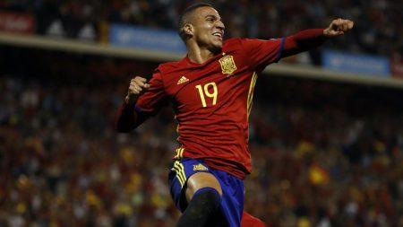 Rodrigo Moreno brilló con la Selección Española en el amistoso frente a Alemania.
