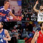 Trayectoria de Sergio Rodríguez: Estudiantes, Real Madrid, Philadelphia 76ers y CSKA Moscu.