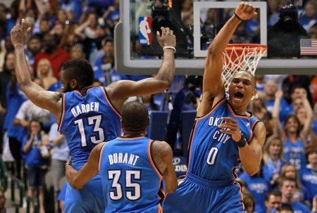 Harden, Durant y Westbrook en Oklahoma