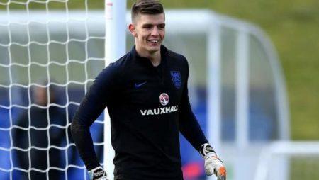 Nick Pope con la selección inglesa.