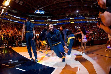 Ricky Rubio con los Utah Jazz a Playoffs