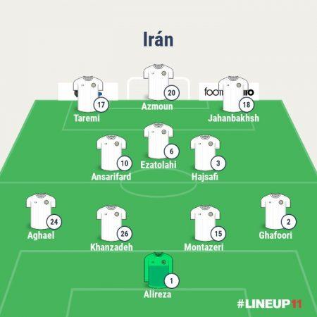 Posible 11 titular de Irán en el Mundial de Rusia 2018