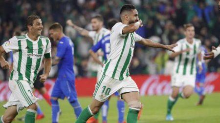 Ryad Boudebouz consigió su primer gol como verdiblanco en la jornada 11 frente al Getafe.